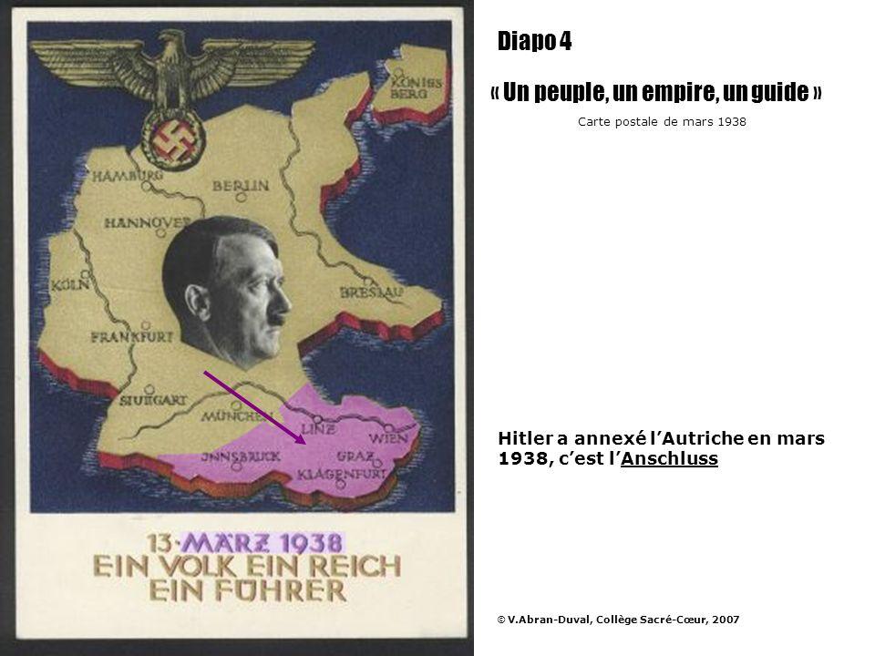 Son regard est tourné vers les Sudètes quil annexe en septembre 1938......