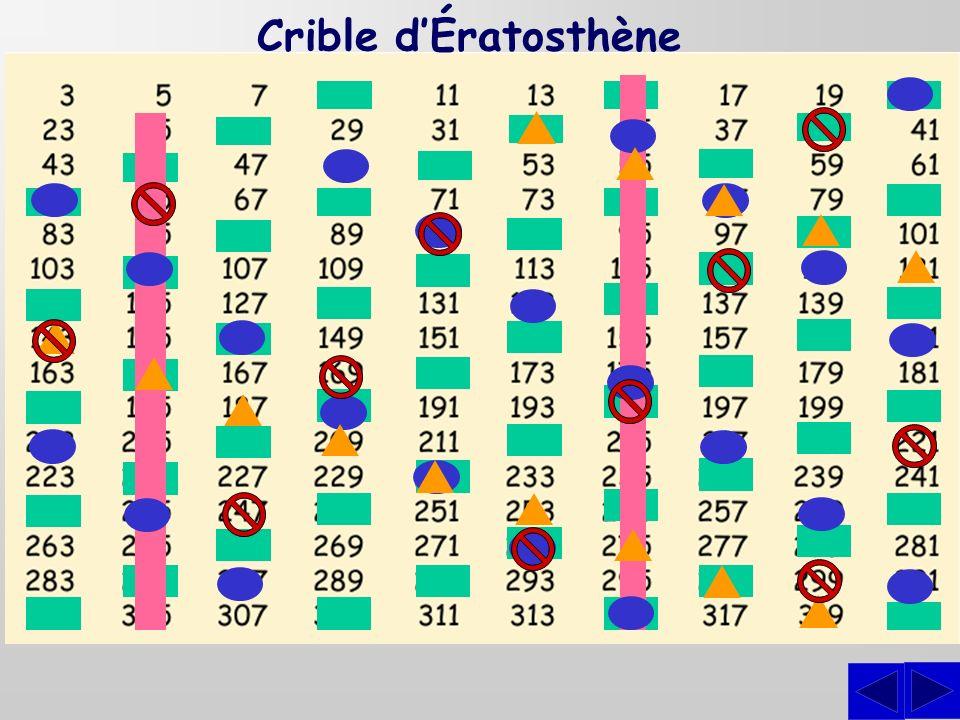 Crible dÉratosthène
