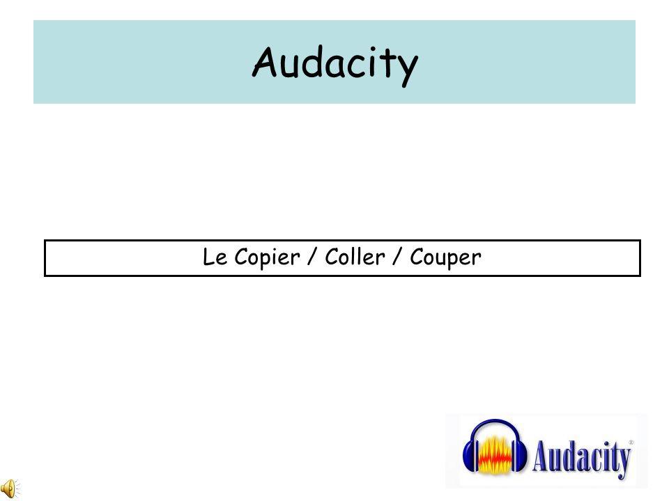 Audacity Le Copier / Coller / Couper