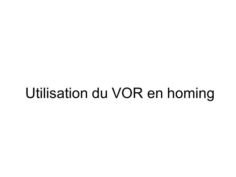 Utilisation du VOR en homing
