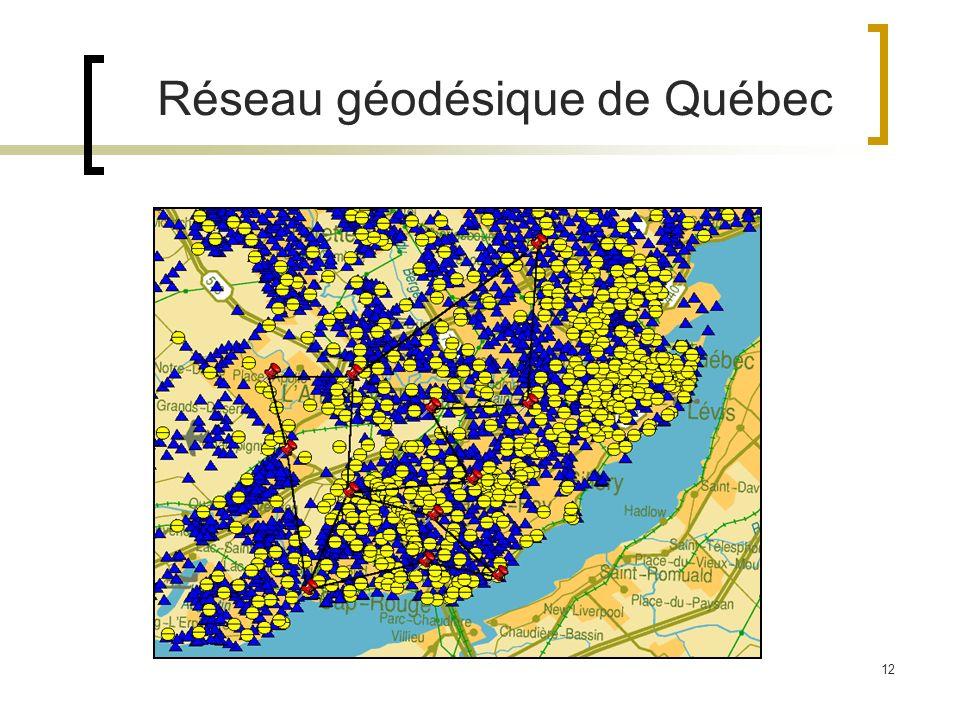 12 Réseau géodésique de Québec