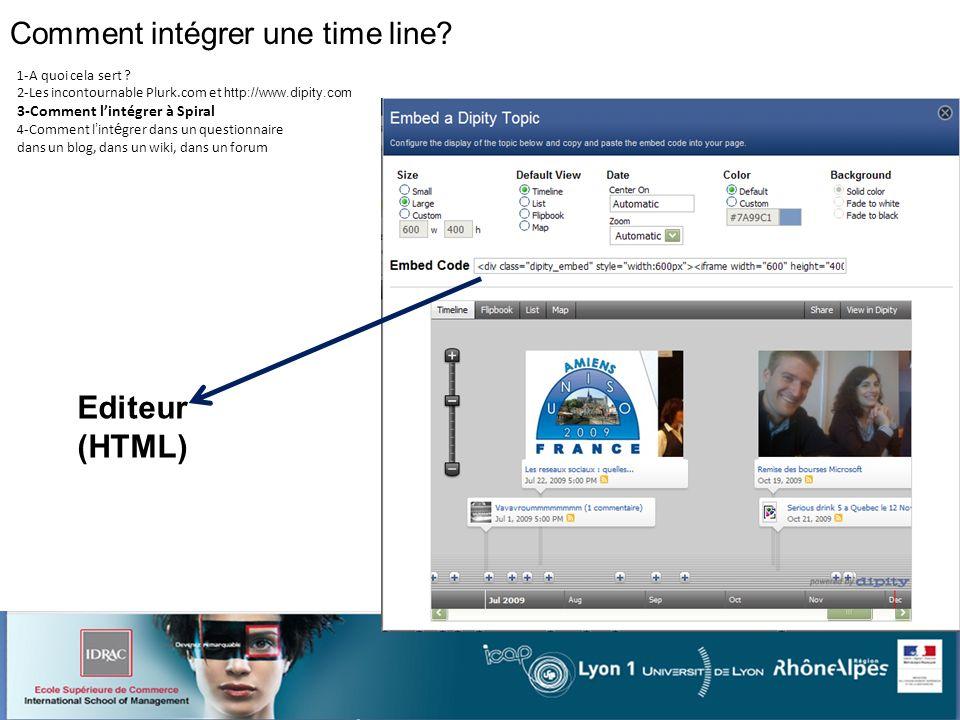 Comment intégrer une time line. 1-A quoi cela sert .