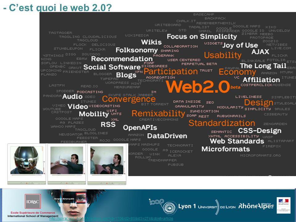 - Cest quoi le web 2.0.