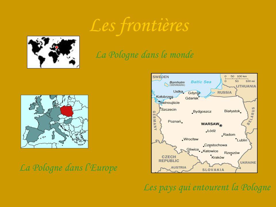 Les frontières La Pologne dans le monde Les pays qui entourent la Pologne La Pologne dans lEurope