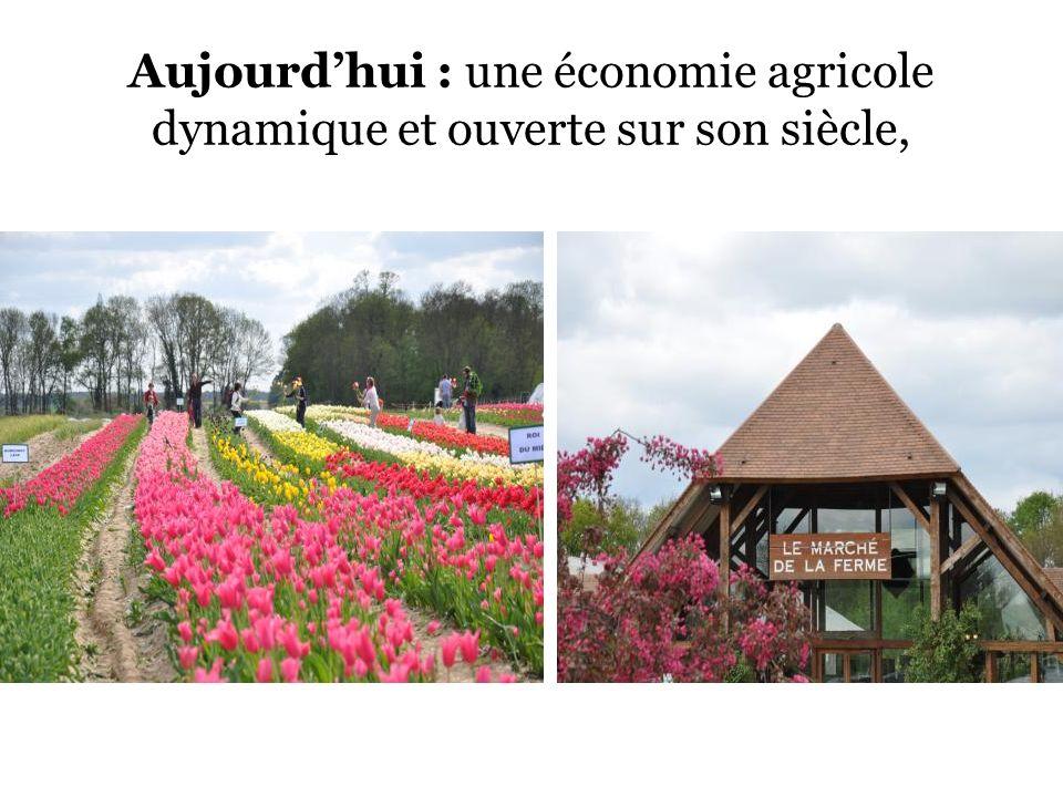 Aujourdhui : une économie agricole dynamique et ouverte sur son siècle,