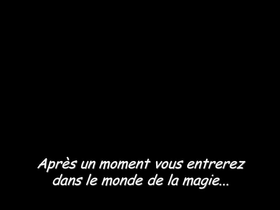 Après un moment vous entrerez dans le monde de la magie...