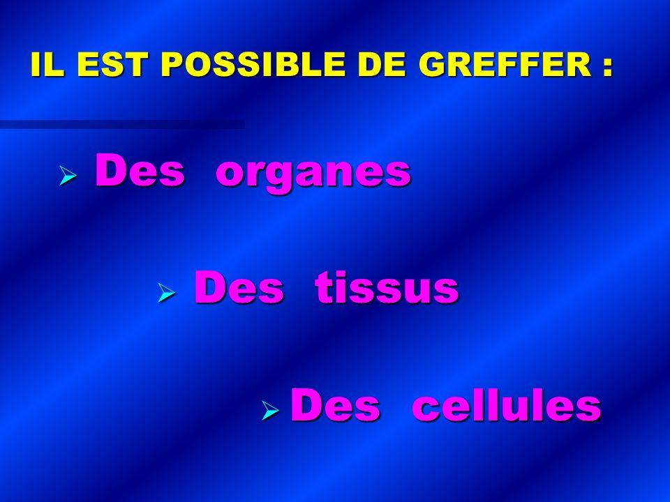 L AVENIR ?...L AVENIR ?... ORGANES ARTIFICIELS . ORGANES ARTIFICIELS .
