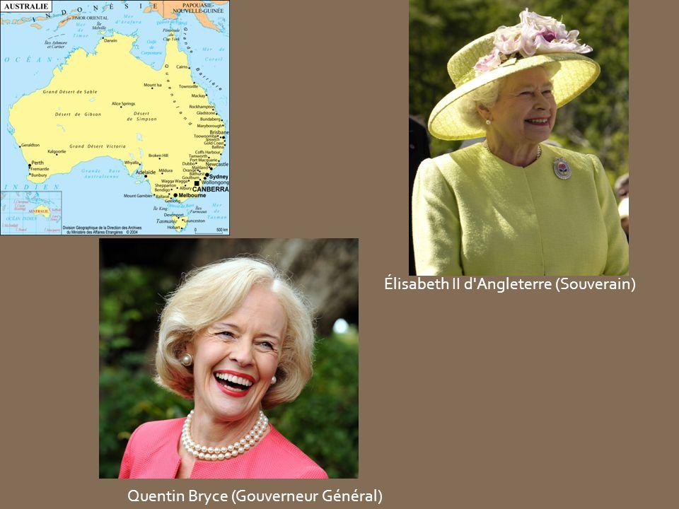 Élisabeth II d'Angleterre (Souverain) Quentin Bryce (Gouverneur Général)