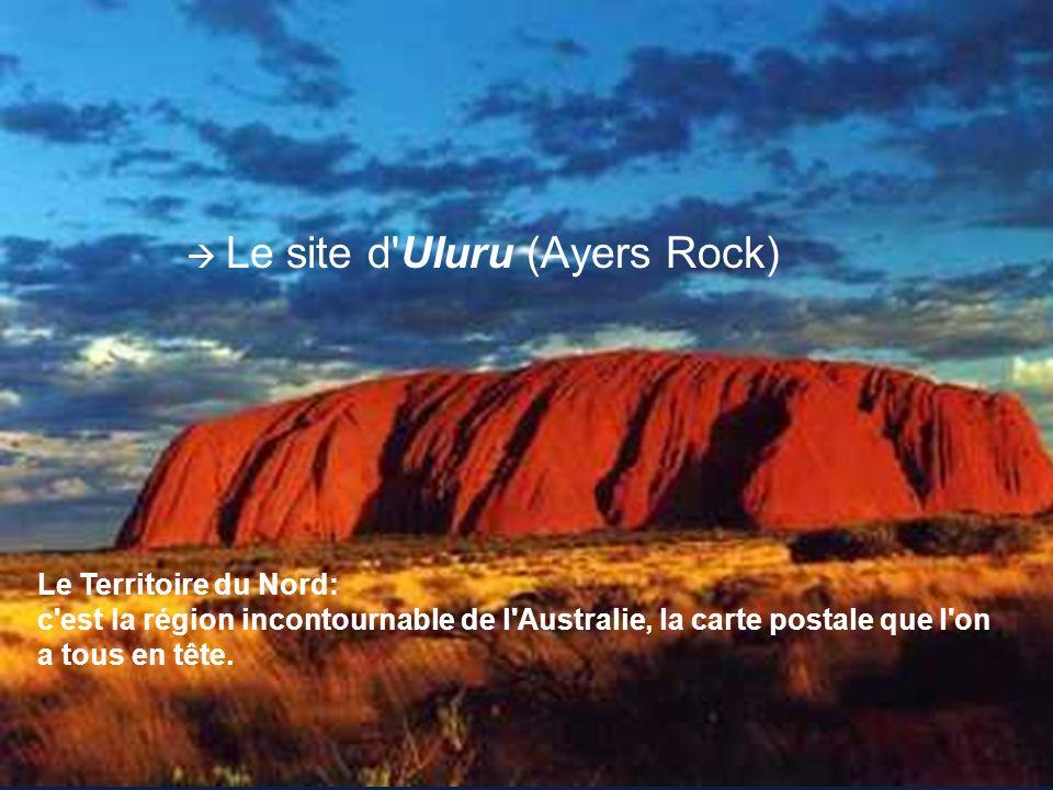 Le site d'Uluru (Ayers Rock) Le Territoire du Nord: c'est la région incontournable de l'Australie, la carte postale que l'on a tous en tête.