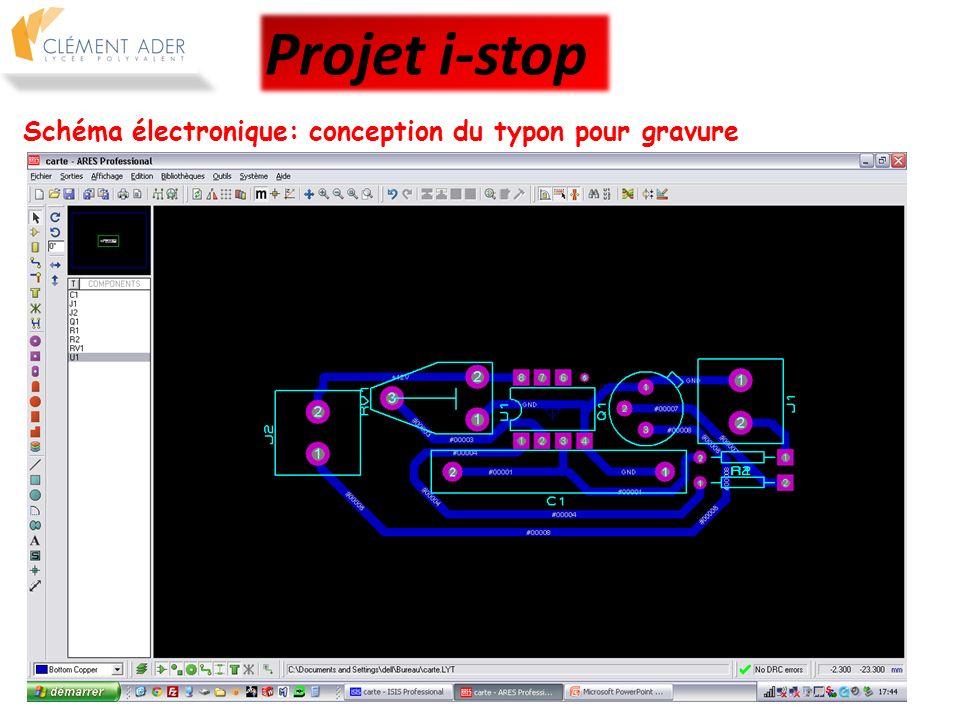 Schéma électronique: préparation FAO de la gravure Projet i-stop