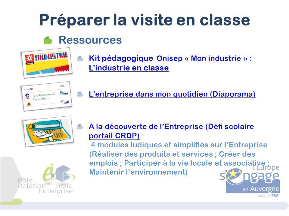 Ressources Kit pédagogique Onisep « Mon industrie » : Lindustrie en classe L'entreprise dans mon quotidien (Diaporama) A la découverte de lEntreprise