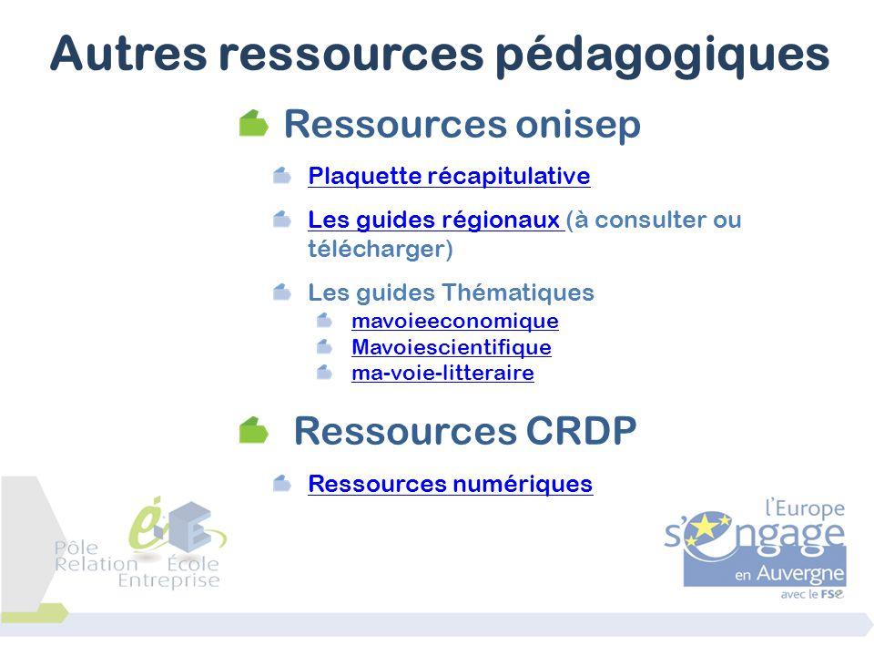 Ressources onisep Plaquette récapitulative Les guides régionaux Les guides régionaux (à consulter ou télécharger) Les guides Thématiques mavoieeconomi