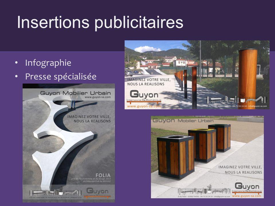 Insertions publicitaires Infographie Presse spécialisée