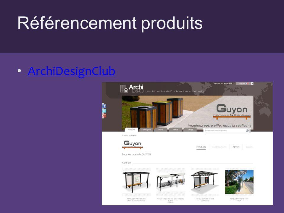 Référencement produits ArchiDesignClub