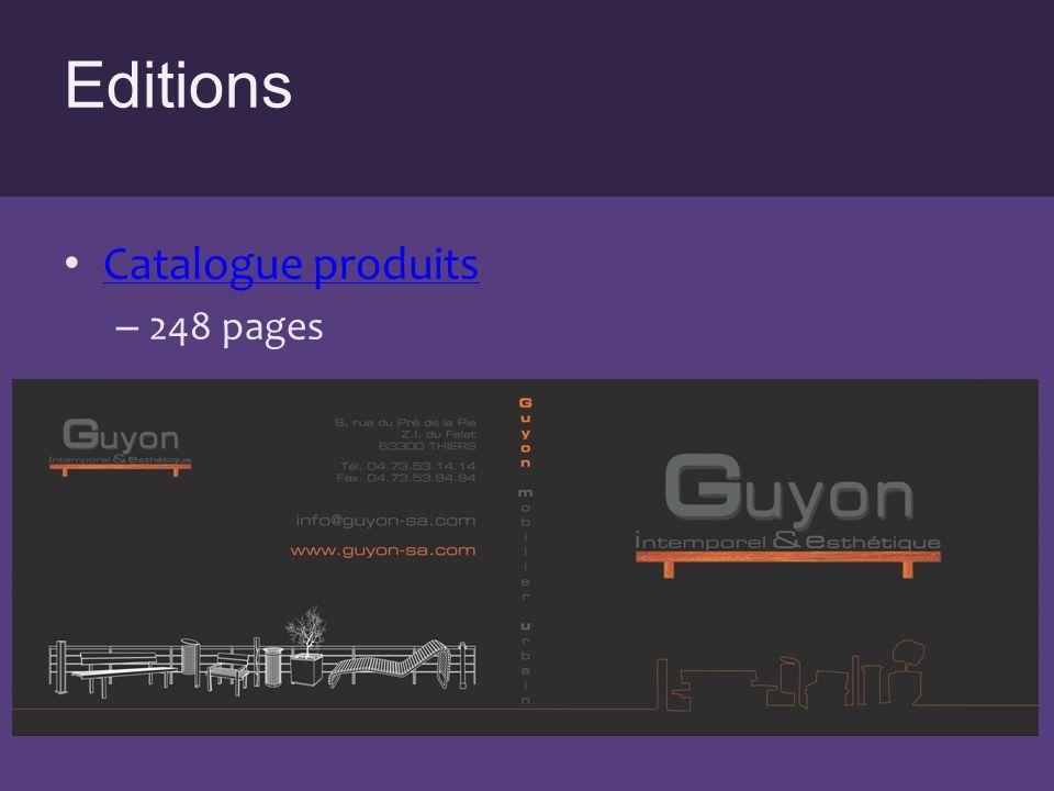 Editions Fiche technique – 400 références produits