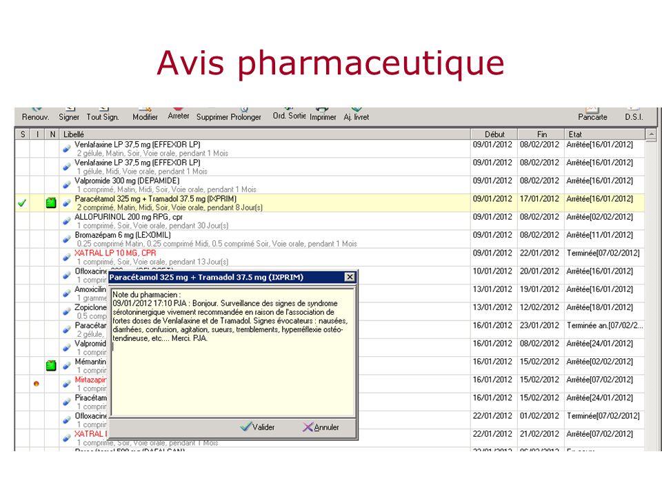 Avis pharmaceutique
