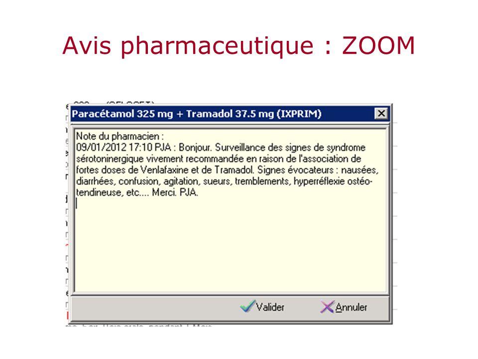 Avis pharmaceutique : ZOOM