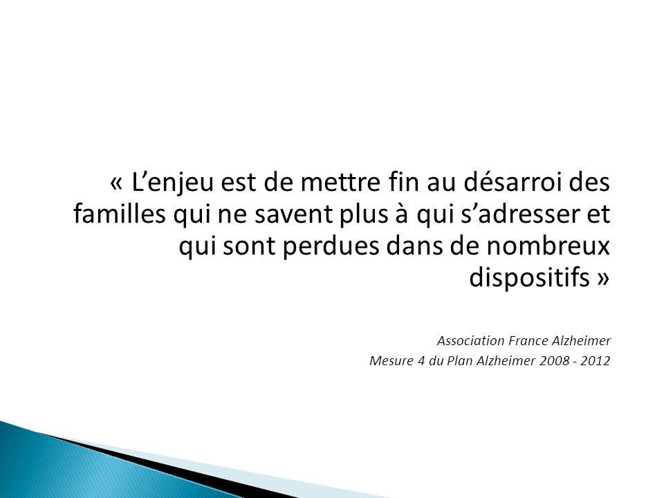 « Lenjeu est de mettre fin au désarroi des familles qui ne savent plus à qui sadresser et qui sont perdues dans de nombreux dispositifs » Association