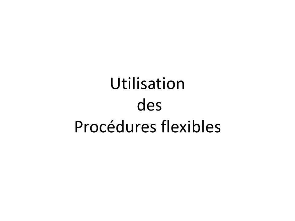 Utilisation des Procédures flexibles