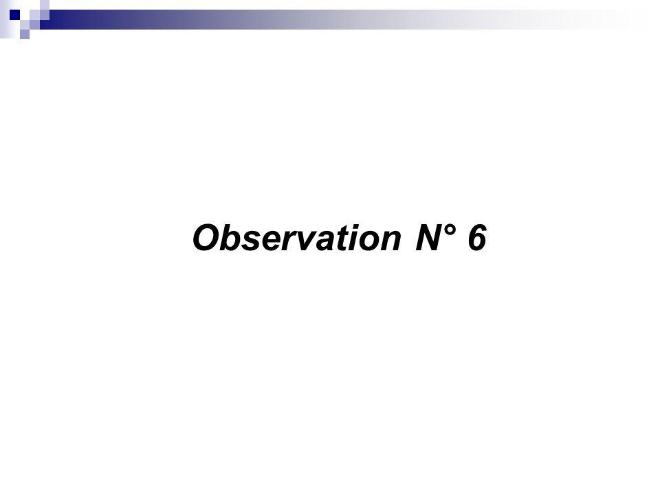 Observation N° 6