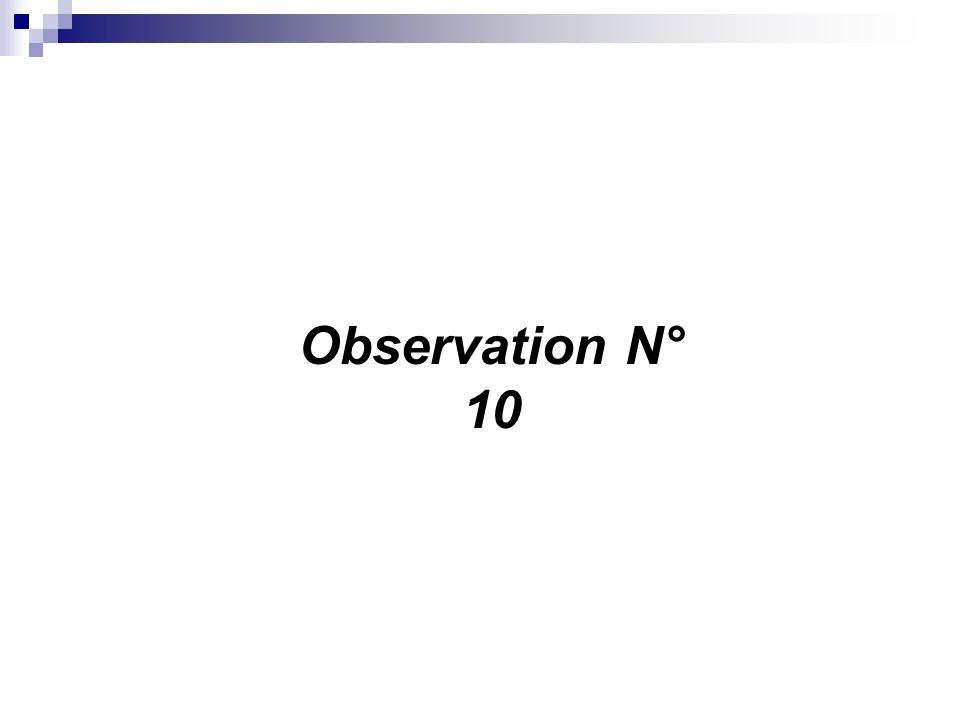 Observation N° 10