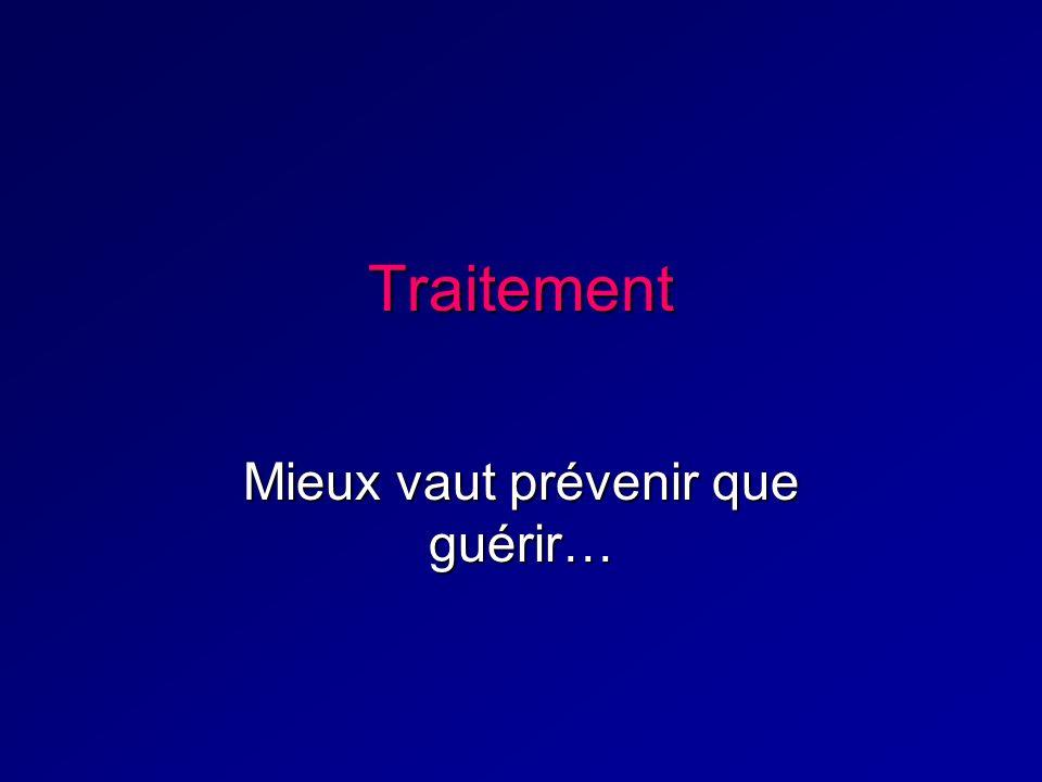 Traitement Mieux vaut prévenir que guérir…