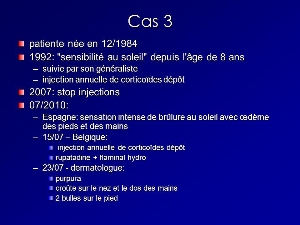 Cas 3 patiente née en 12/1984 1992: