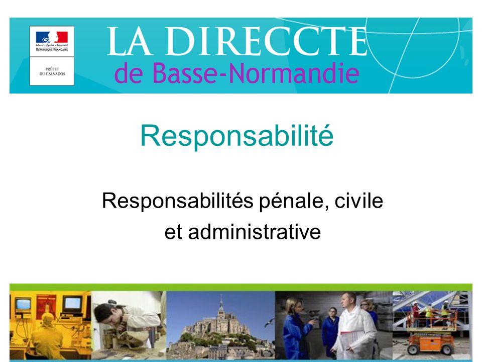 Responsabilité Responsabilités pénale, civile et administrative