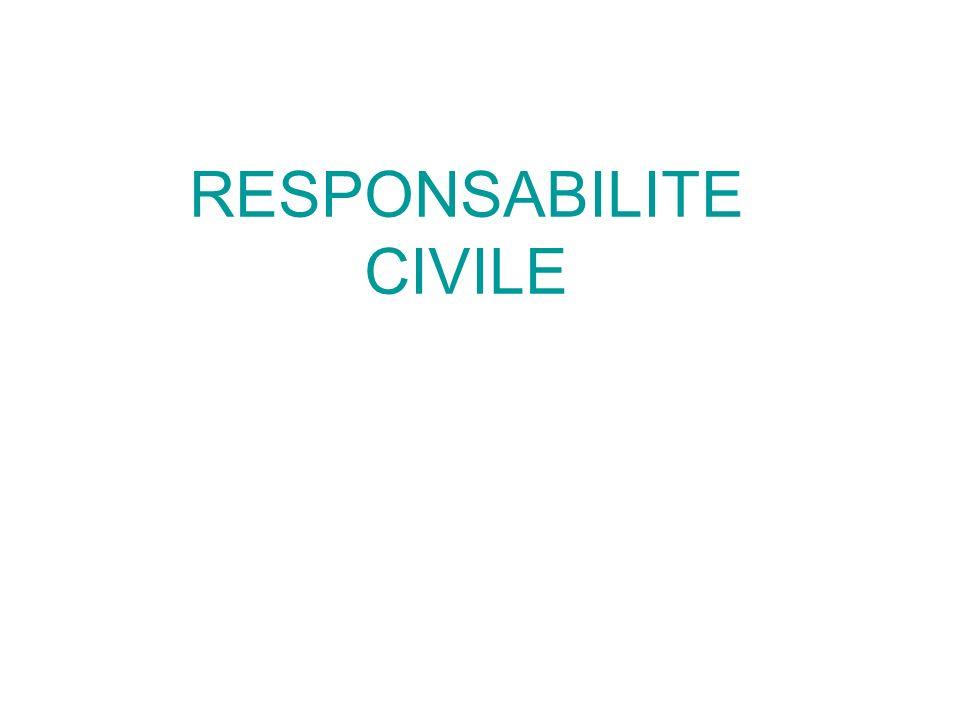 RESPONSABILITE CIVILE