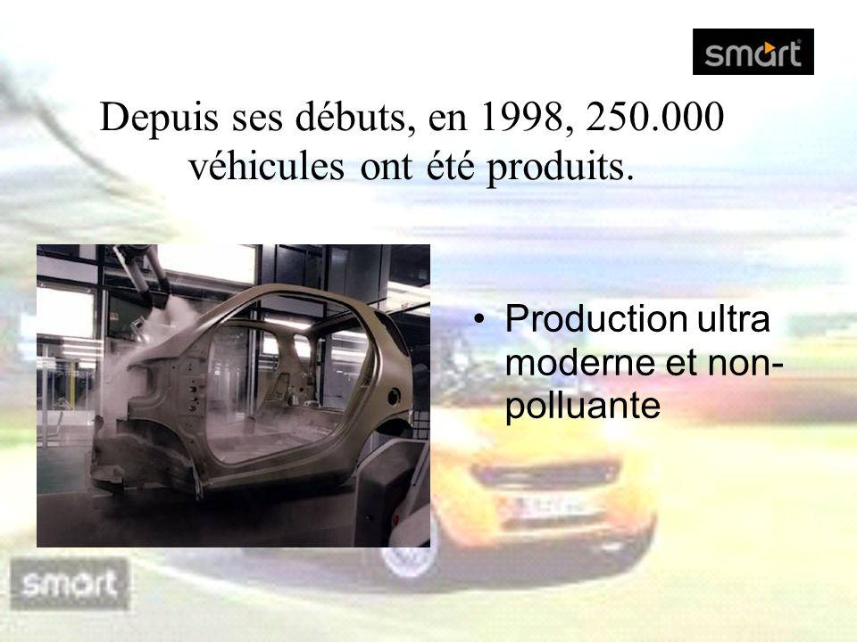 Production ultra moderne et non- polluante Depuis ses débuts, en 1998, 250.000 véhicules ont été produits.