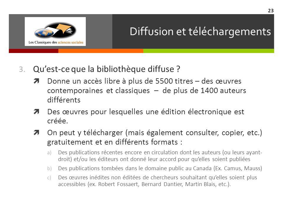 Diffusion et téléchargements 3. Quest-ce que la bibliothèque diffuse .