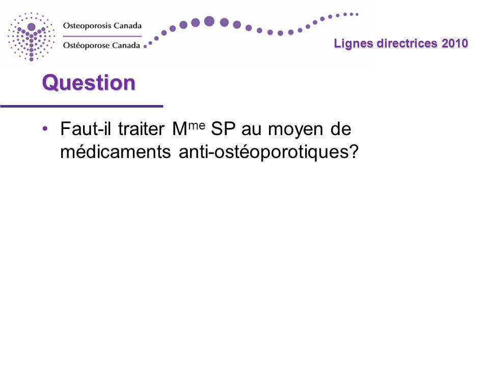 Lignes directrices 2010 Documentation additionnelle Cas nº 3 – Cas nº 3 – M me SP On peut accéder à dautres diapositives en utilisant les hyperliens présents dans les diapositives des histoires de cas