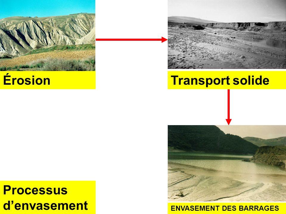 LAlgérie est un pays vulnérable au réchauffement climatique. En lAlgérie, lenvasement ; lune des conséquences de lérosion hydrique augmentera dans les