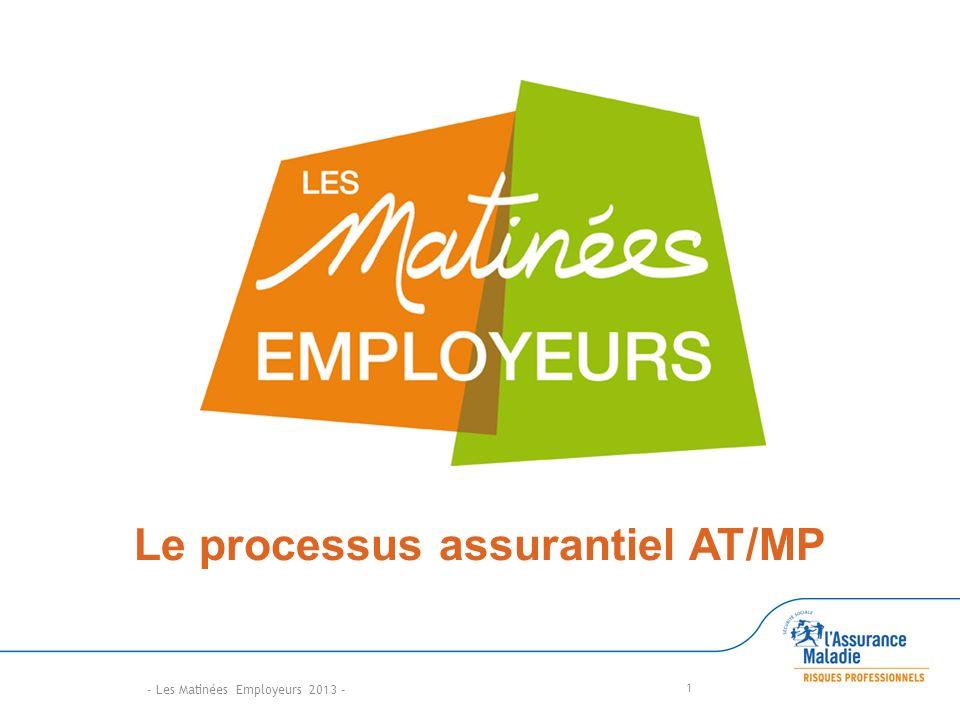 1 Le processus assurantiel AT/MP - Les Matinées Employeurs 2013 -