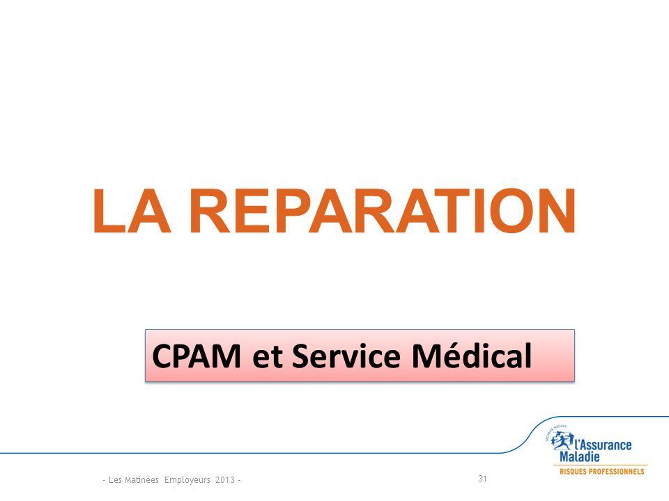LA REPARATION 31 - Les Matinées Employeurs 2013 - CPAM et Service Médical