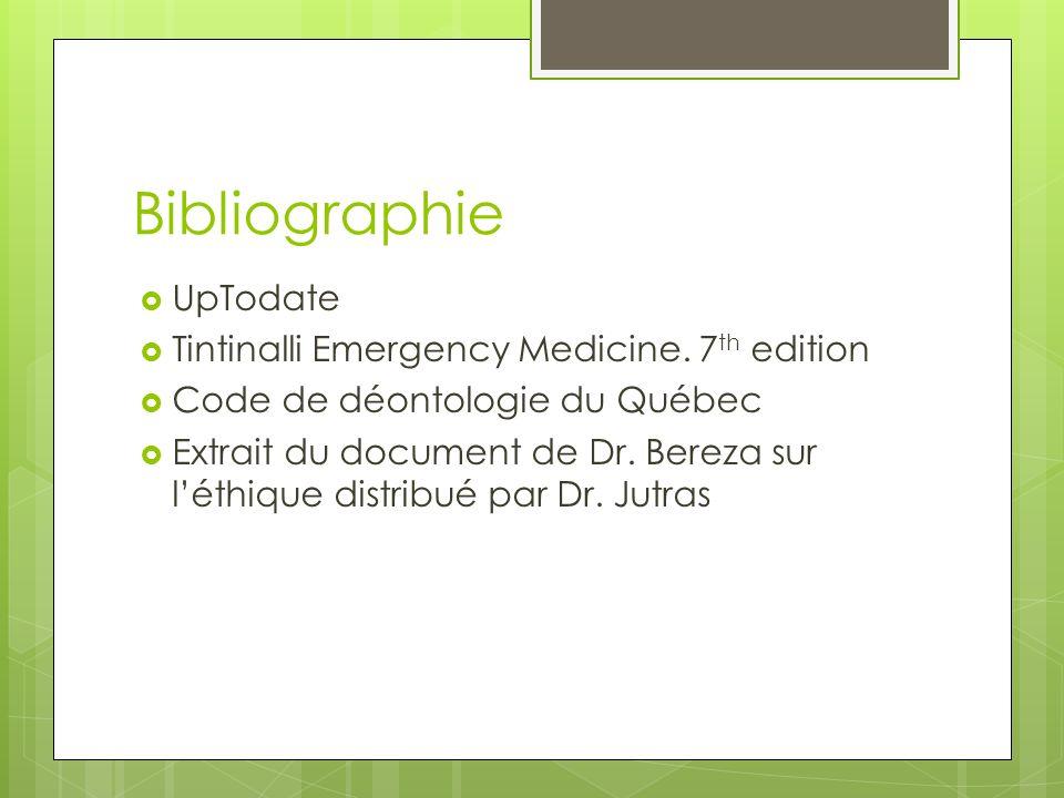 Bibliographie UpTodate Tintinalli Emergency Medicine.