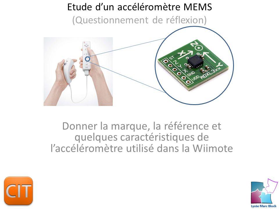 Etude dun accéléromètre MEMS Donner la signification de MEMS et expliquer