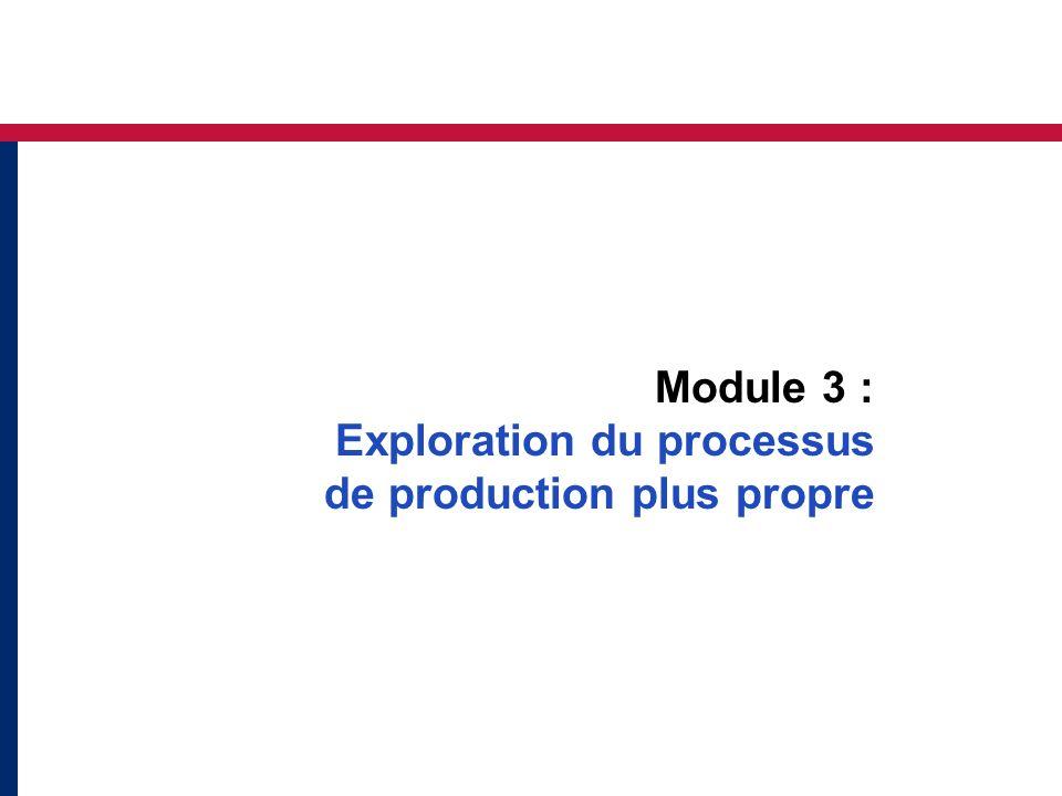 Module 3 : Exploration du processus de production plus propre