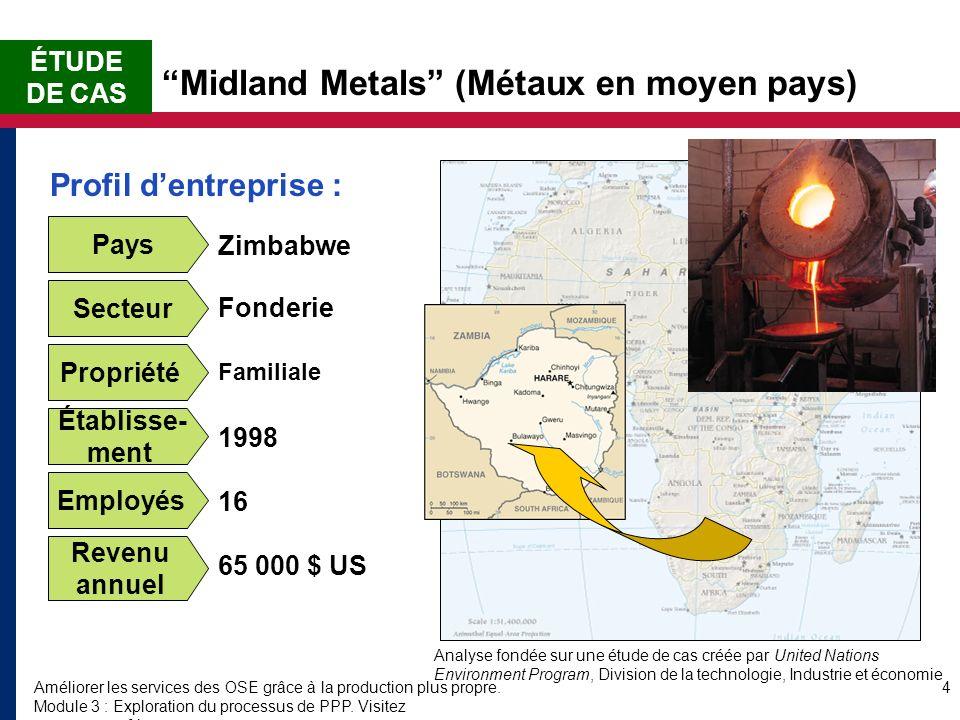 Améliorer les services des OSE grâce à la production plus propre. Module 3 : Exploration du processus de PPP. Visitez www.encapafrica.org. 4 Midland M
