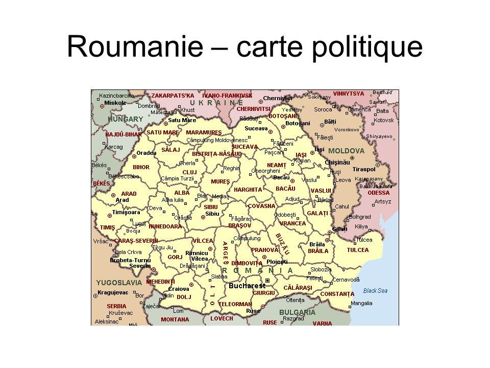 Roumanie – carte politique