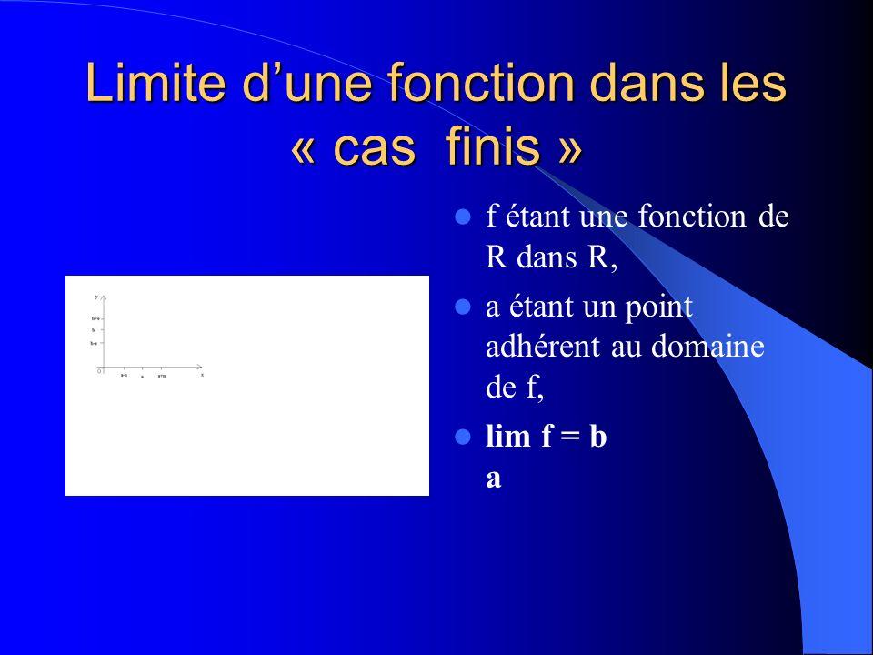 Limite dune fonction dans les « cas finis » Travail de toussaint