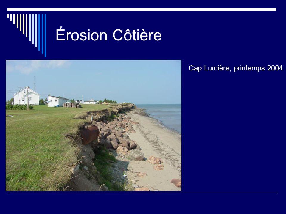 Érosion Côtière Cap Lumière, printemps 2004