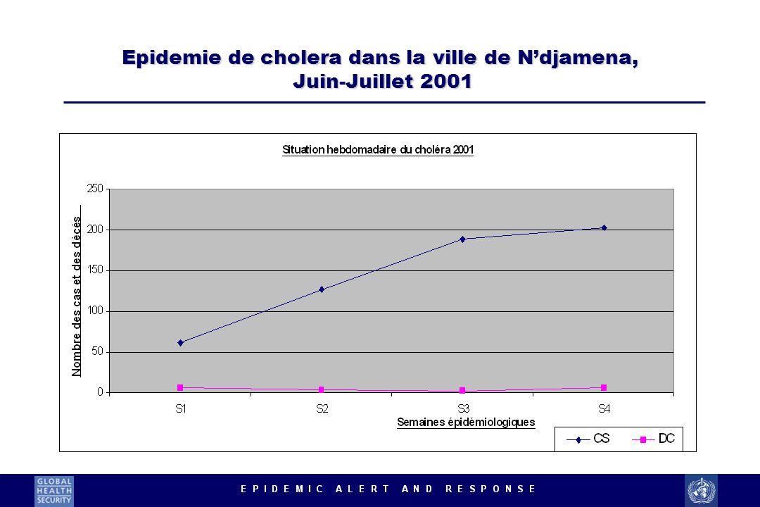 Epidemie de cholera dans la ville de Ndjamena, Juin-Juillet 2001