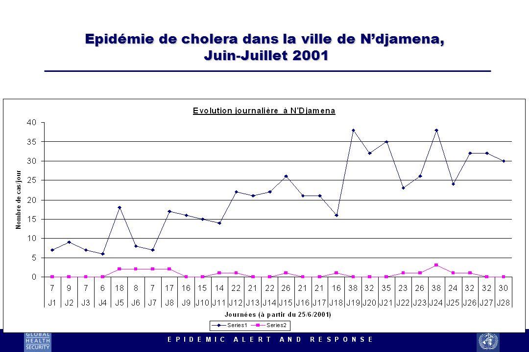 Epidémie de cholera dans la ville de Ndjamena, Juin-Juillet 2001
