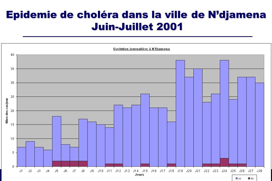 Epidemie de choléra dans la ville de Ndjamena Juin-Juillet 2001
