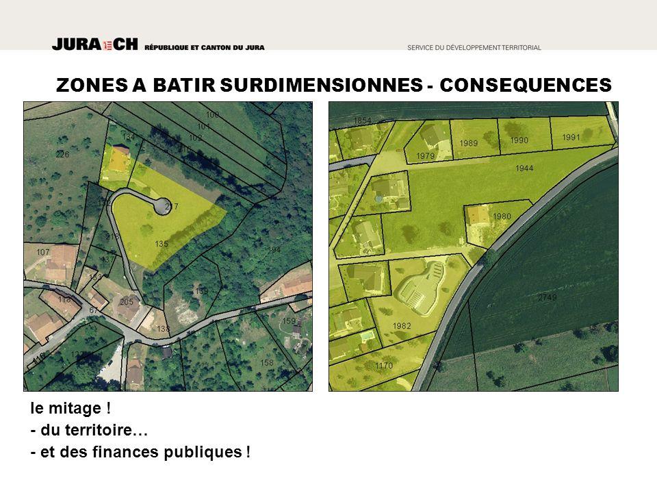 le mitage ! - du territoire… - et des finances publiques !