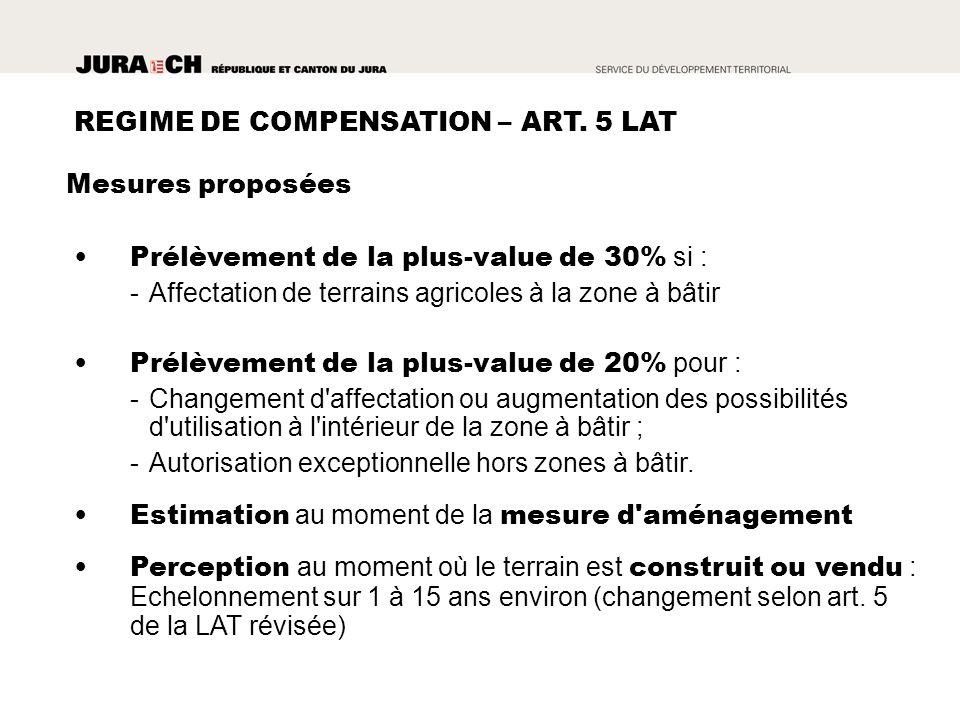 REGIME DE COMPENSATION – ART.