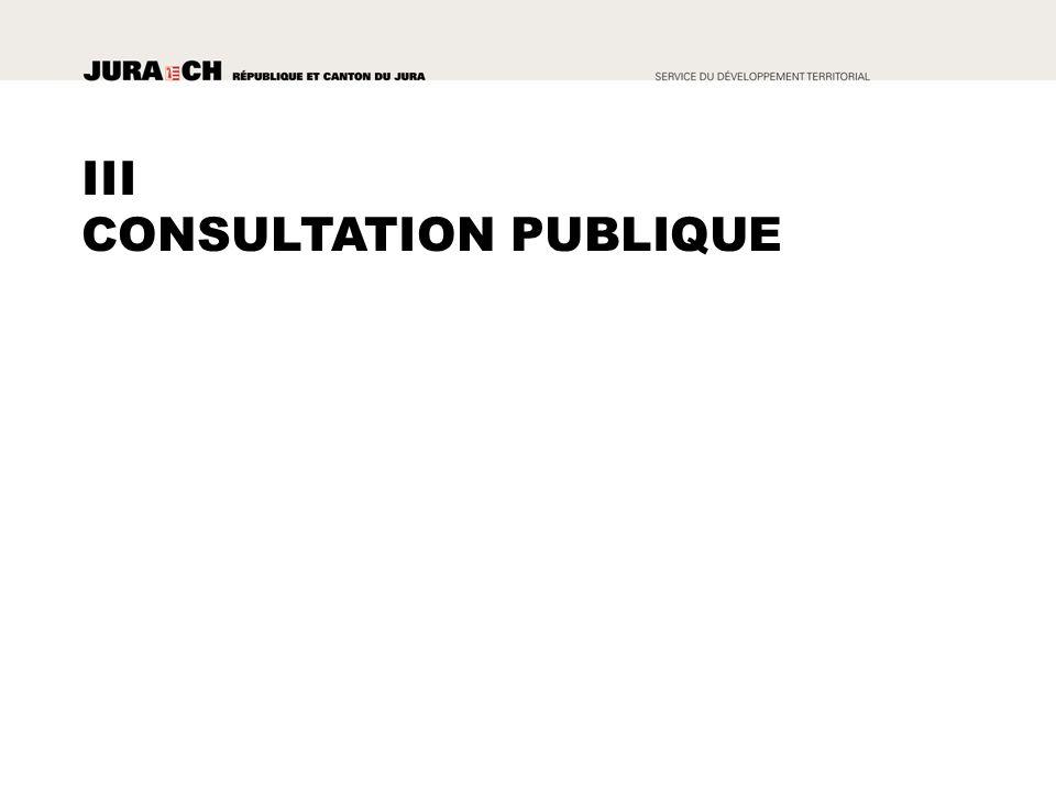 III CONSULTATION PUBLIQUE
