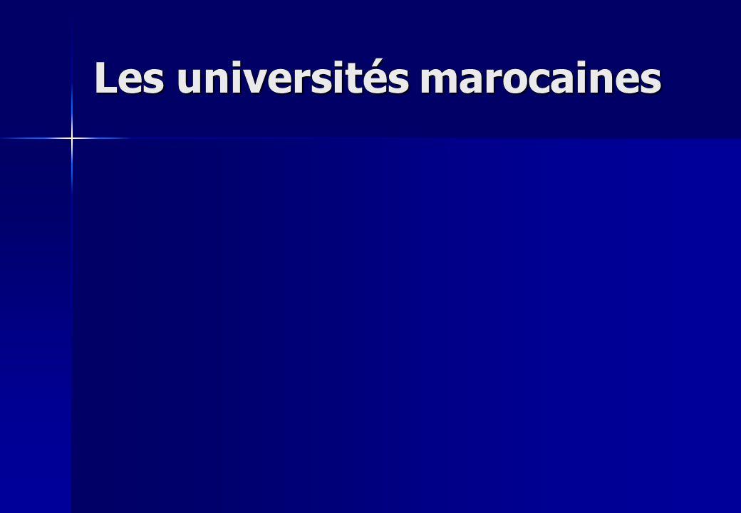 Les universités marocaines