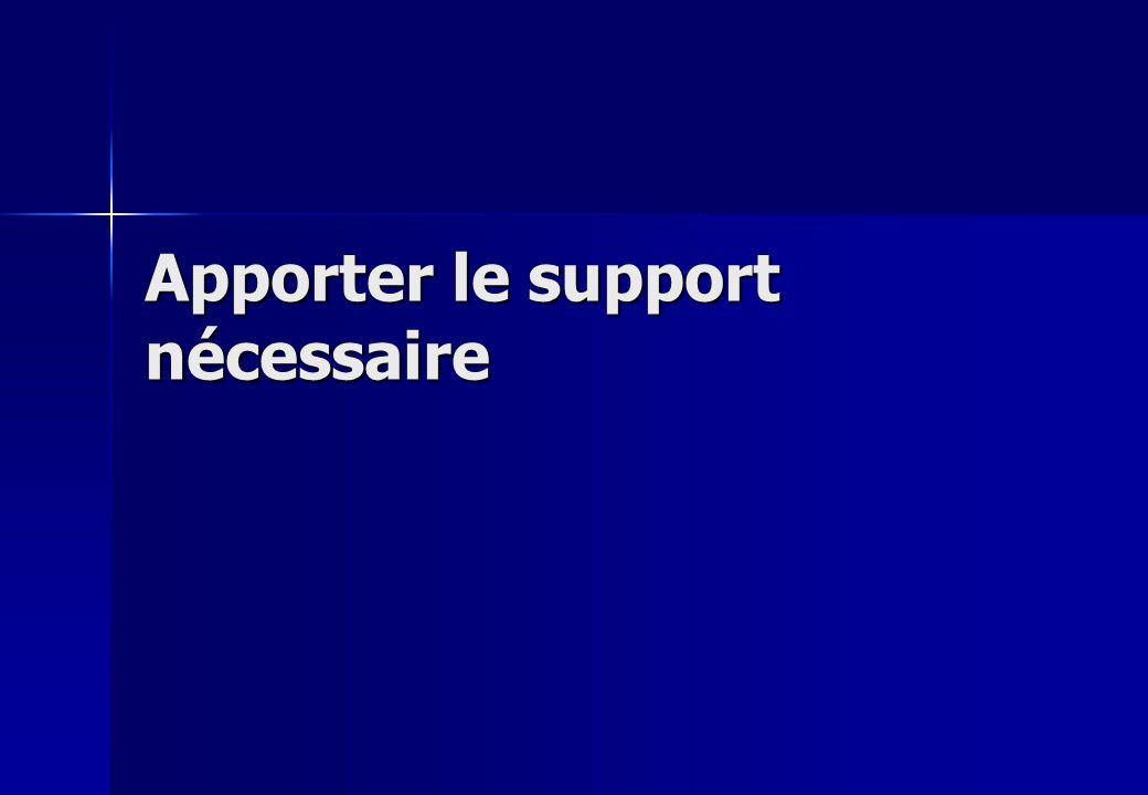 Apporter le support nécessaire